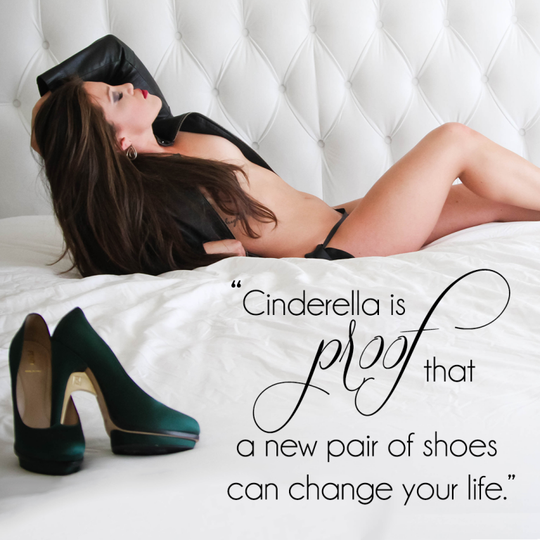 Keep your Head, Heels, and Standards High with the right shoes for your boudoir photo shoot
